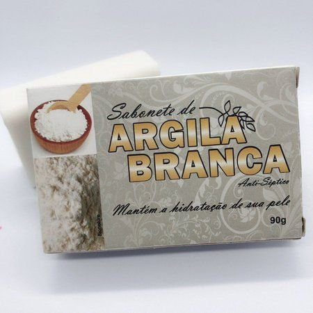 SABONETE DE ARGILA BRANCA 90G BIONATURE
