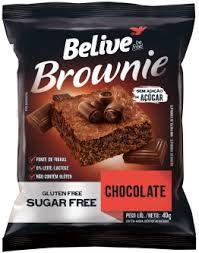 BROWNIE CHOCOLATE SEM ACUCAR BELIVE 40G