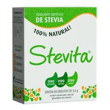 ADOÇANTE STEVITA STEVIA PO COM 50 ENVELOPES DE 0,6G CADA