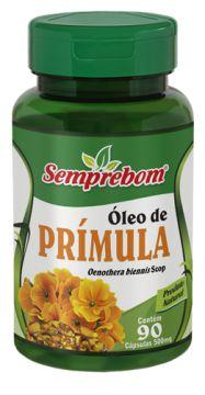 OLEO DE PRIMULA - 90 CAPSULAS - 500MG - SEMPREBOM