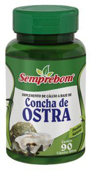 CONCHA DE OSTRA - 90 CAPSULAS - 500MG - SEMPREBOM