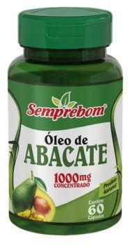 OLEO DE ABACATE - 60 CAPSULAS - 1000MG - SEMPREBOM