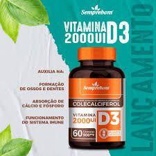 VITAMINA D3 COLECALCIFEROL 60 CAPSULAS 500MG 2000UI SEMPREBOM