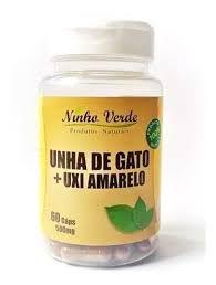 UXI AMARELO E UNHA DE GATO 60 CAPSULAS 500mg NINHO VERDE
