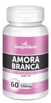 AMORA BRANCA - 60 CAPSULAS - 500MG - SEMPREBOM