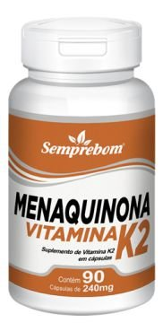 Vitamina K2 (Menaquinona) - 60 Cápsulas - 500mg - Semprebom