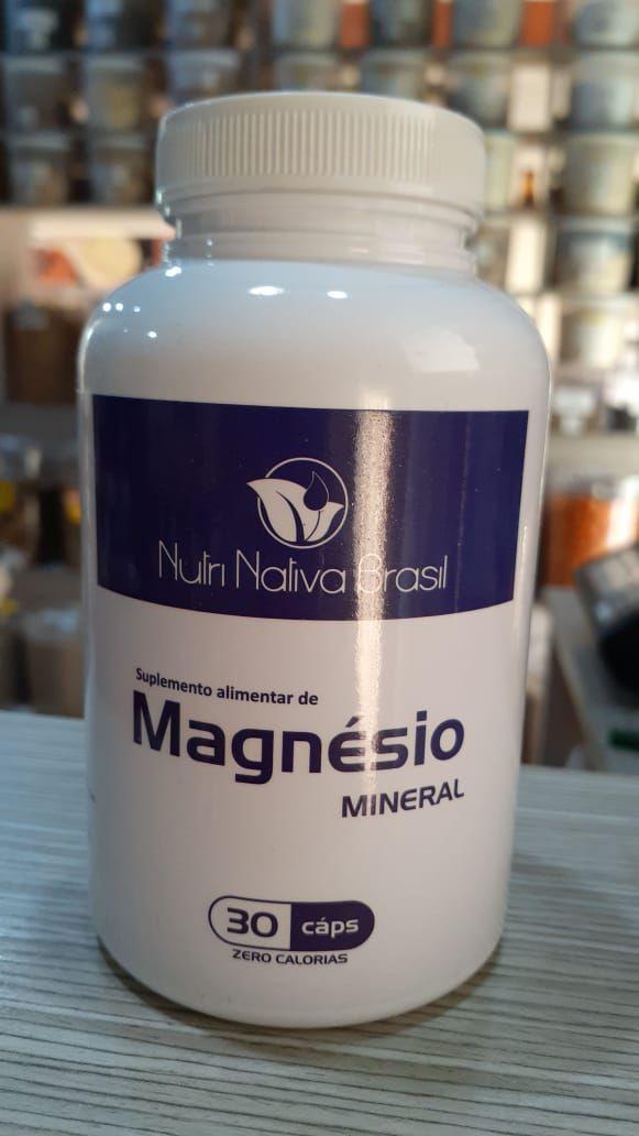 Magnésio Quelato - 30 Cápsulas - Nutri Nativa Brasil