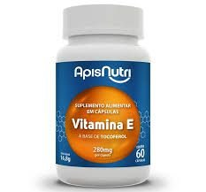Vitamina E (Tocoferol)  - 60 Cápsulas de 280mg - Apis Nutri