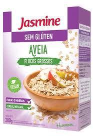 AVEIA SEM GLUTEN EM FLOCOS GROSSO JASMINE 200G