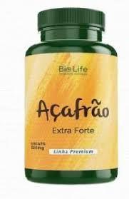 Açafrão Extra Forte (Cúrcuma) - 60 Cápsulas de 500mg - Bio Life