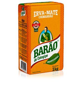 ERVA MATE CHIMARRAO BARAO TRADICIONAL A VACUO 1 KG