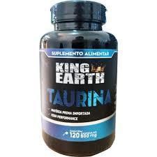 TAURINA - 120 CAPSULAS DE 500MG - KING EARTH