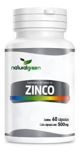ZINCO 60 CAPSULAS 500MG NATURAL GREEN