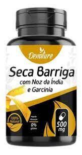 SECA BARRIGA COM NOZ DA INDIA E GARCINIA 60 CAPSULAS X 500MG - DENATURE EMAGRECEDOR