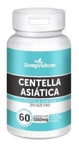 Centella Asiática - 60 Cápsulas de 500mg - Semprebom