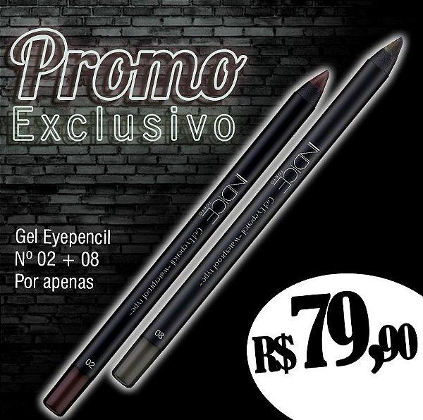 Promo Exclusivo / Gel Eyepencil nº02 / Gel Eyepencil nº08