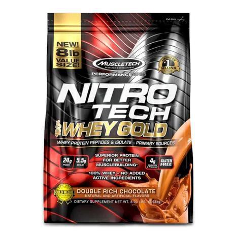 Nitro Tech 100% Whey Gold 8LBS 3,63kg - Muscletech