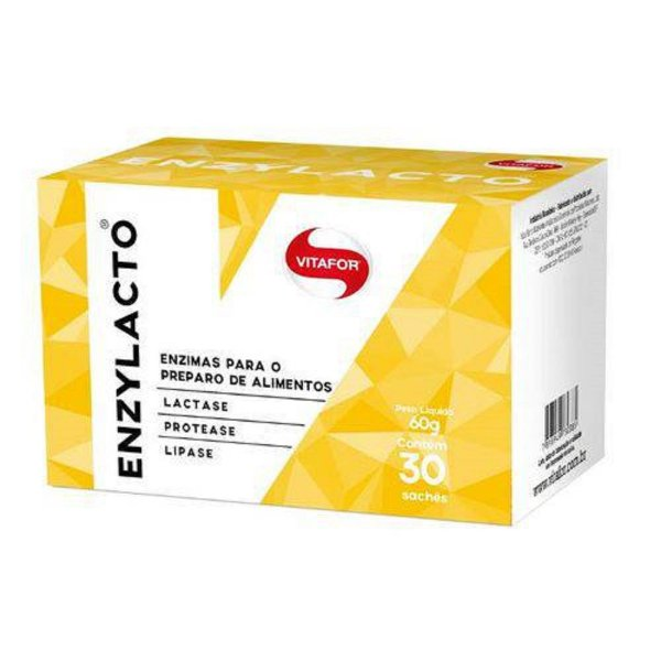 Enzylacto Enzimas Digestivas 30 sachês - Vitafor