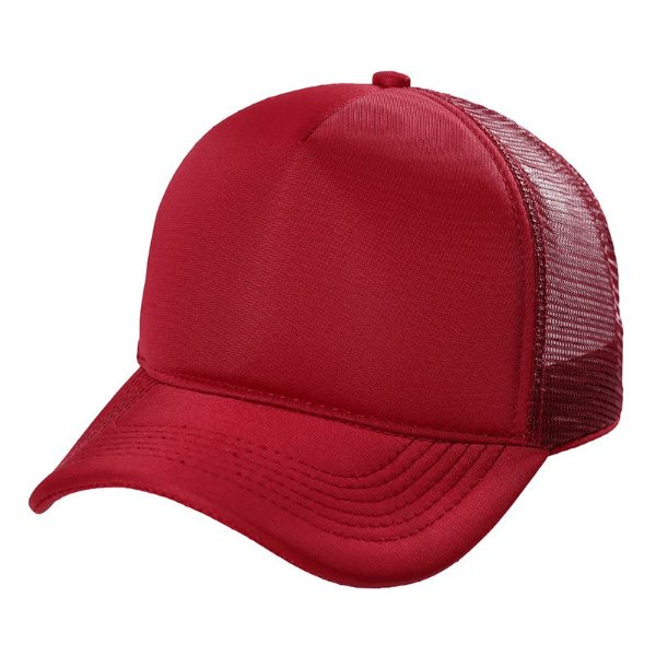 Boné trucker vermelho de telinha