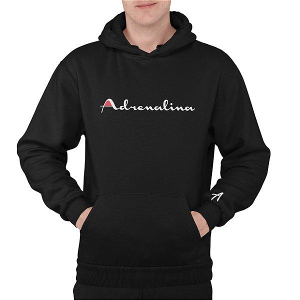 Moletom Adrenalina Preto/Silk Branco