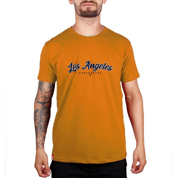 Camiseta Los Angeles - Amarelo