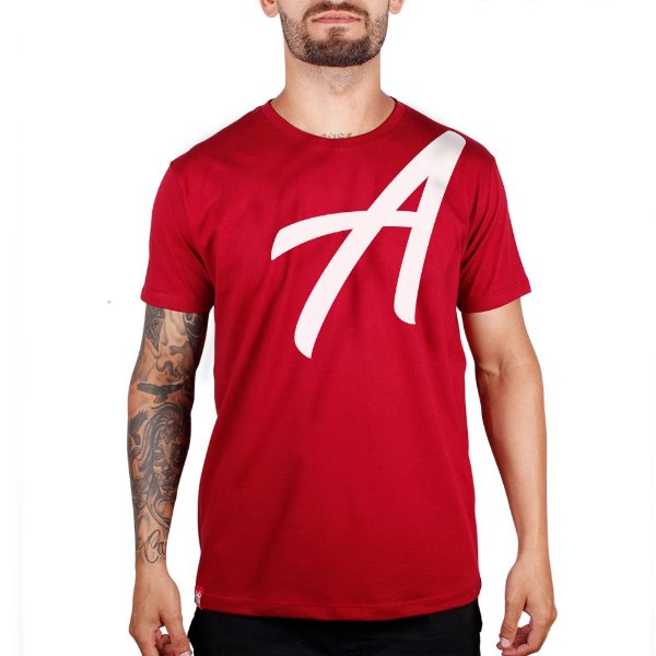 Camiseta Silk Branco Adrenalina - Vermelho