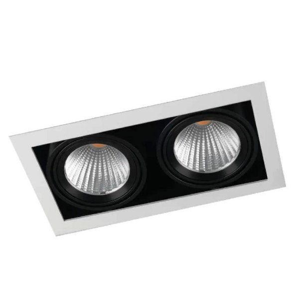 LUMINÁRIA DE EMBUTIR QUADRA 1413 PARA DICRÓICA MR16 GU10 INTERLIGHT