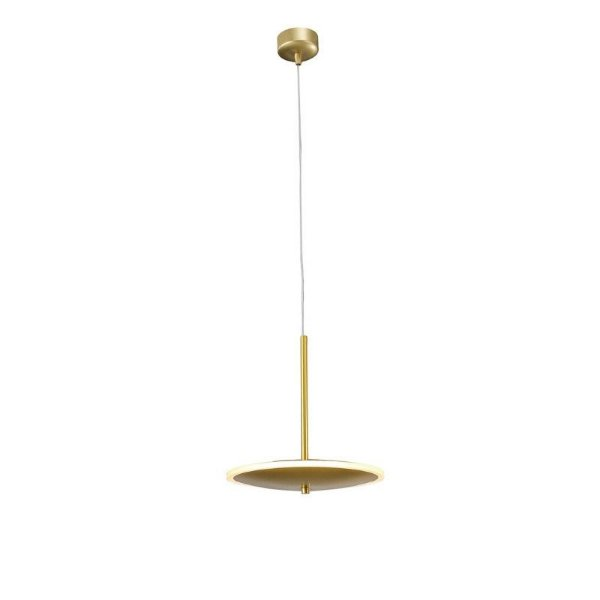 PENDENTE DISC LED BRONZE