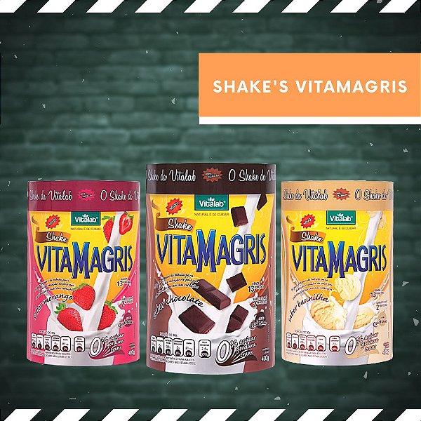 SHAKE VITAMAGRIS - BAUNILHA, CHOCOLATE E MORANGO - 400 g