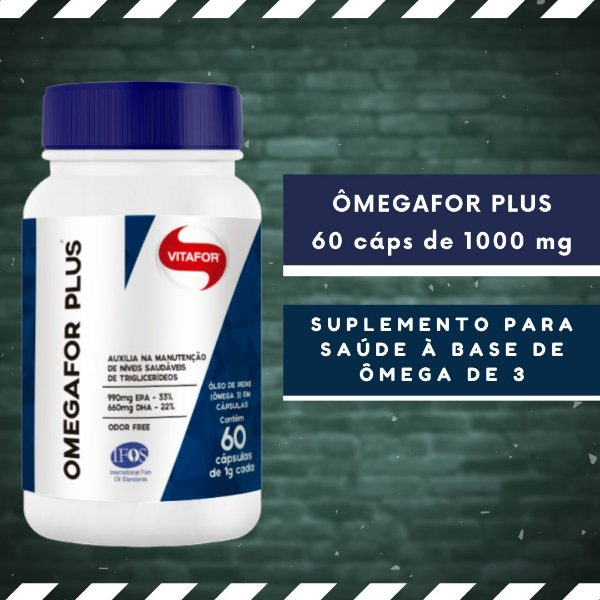 OMEGAFOR PLUS - 60 Cáps 1000 mg