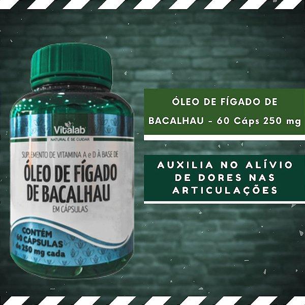 ÓLEO DE FÍGADO DE BACALHAU - 60 Cáps 250 mg