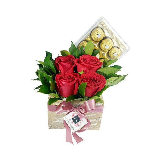Carré de Rosas Colombianas com Ferrero Rocher