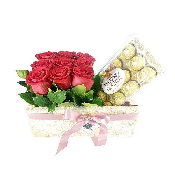 Carré de Rosas Colombianas e Ferrero Rocher