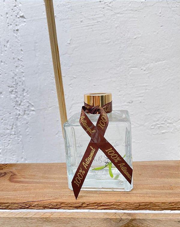 Difusores de varetas com 200ml de vidro quadrado Aroma Alecrim Lelis
