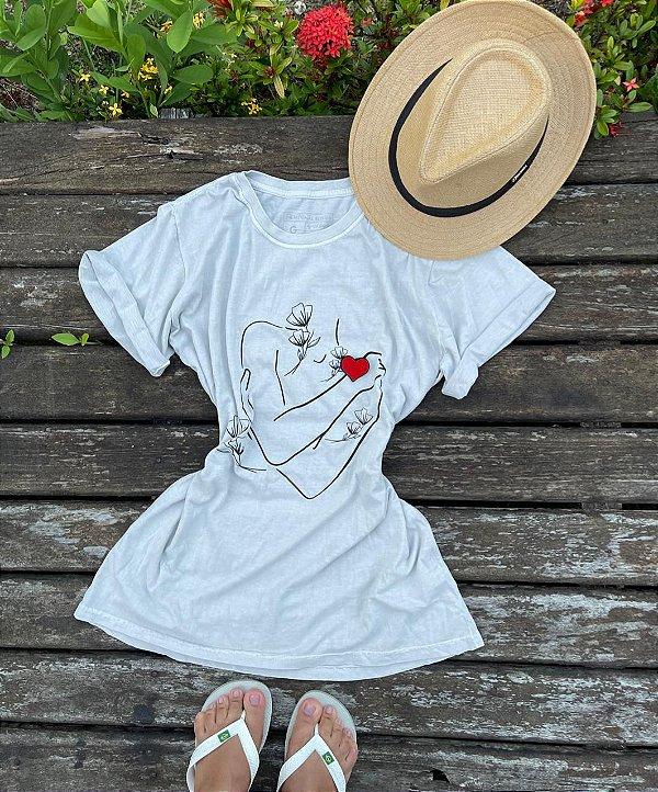 T-shirt Juazeiro Estonada Branca (100% Algodão)