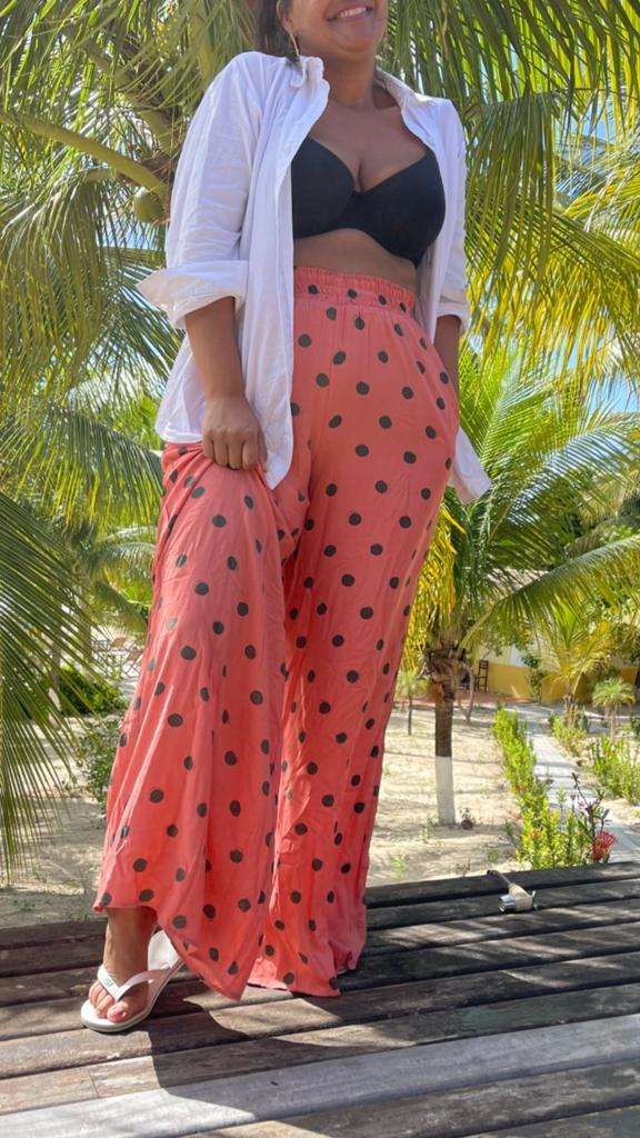 Calça Pantalona Coqueiro ( Coleção Raízes)