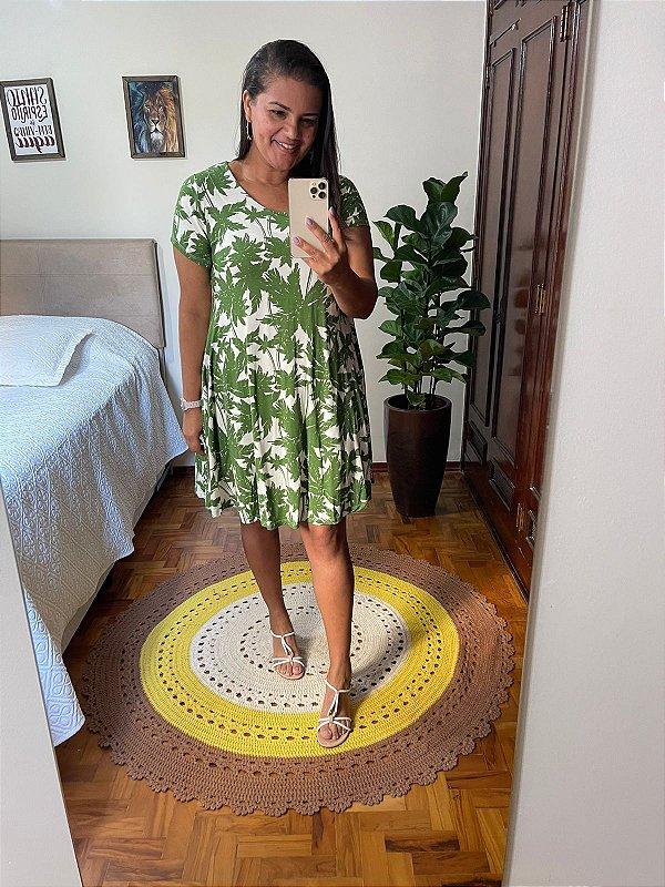 Vestido Ruanita na cor verde      (Tamanho único)