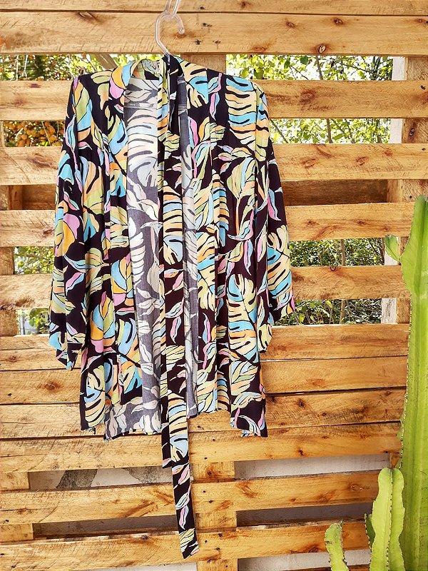KIMONO NAOMI ( Tamanho único que veste do 36 ao 54 )