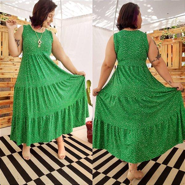 VESTIDO FÁBIA ( Tamanho único que veste do 36 ao 48 ) Verde