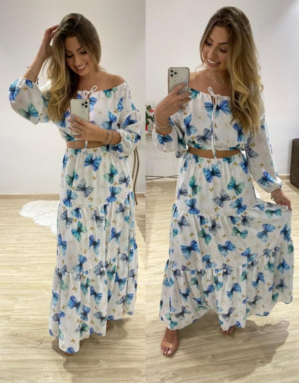 Vestido Bel ( cor Azul )