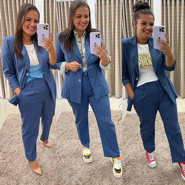 Conjunto MIRANDA  Azul LINHO MISTO