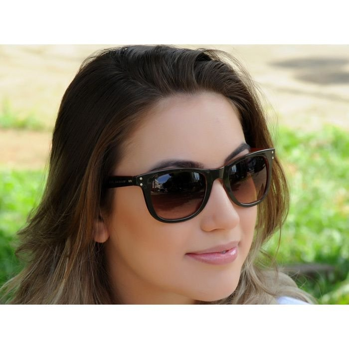 Óculos de Sol Jackdaw 37 Marrom e Laranja Brilho com Lentes Marrom Degradê