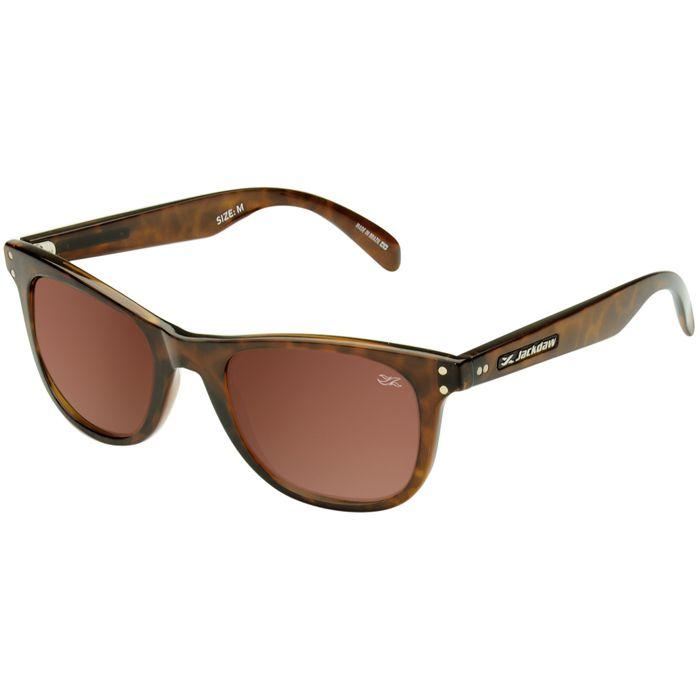 Óculos de Sol Jackdaw 39 Marrom Demi Brilho com Lentes Marrom Polarizado