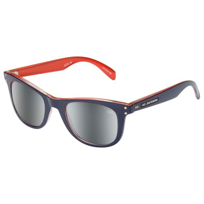 Óculos de Sol Espelhado Jackdaw 48 Azul Marinho e Vermelho Brilho com Lentes Cinza