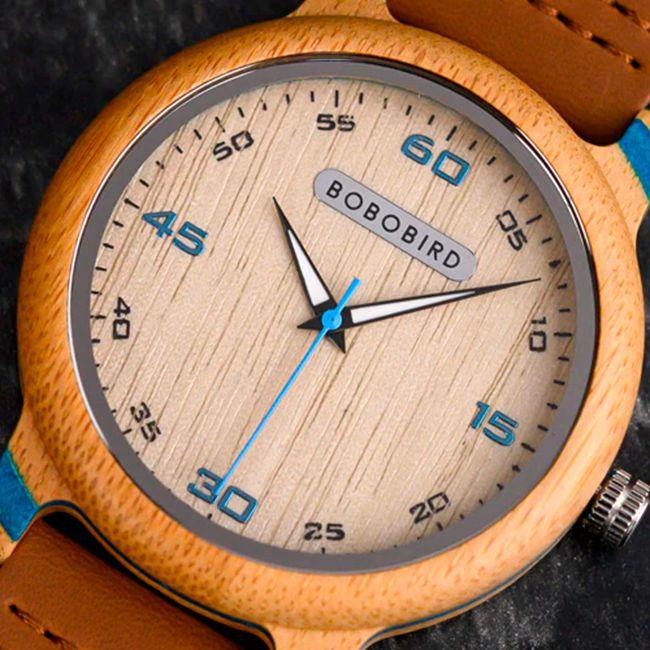Relógio de Bambu Elegance