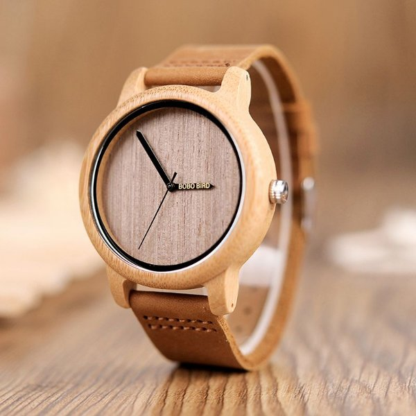 Relógio Feminino de Bambu Japonês