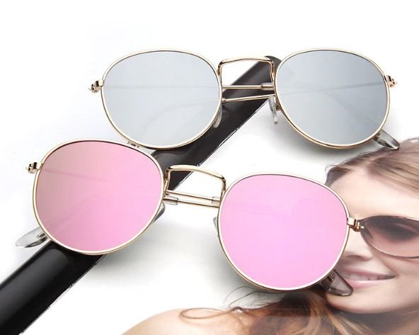 Óculos de Sol Feminino Redondo Espelho