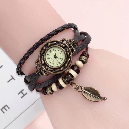Relógio Feminino de Couro Artesanal