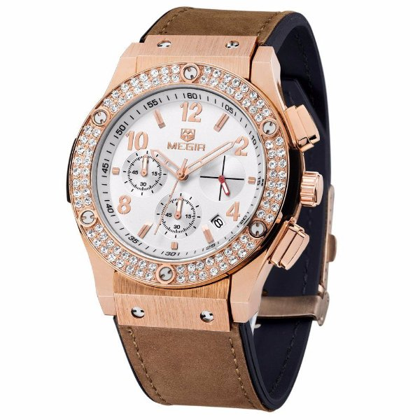Relógio Feminino Megir Diamante