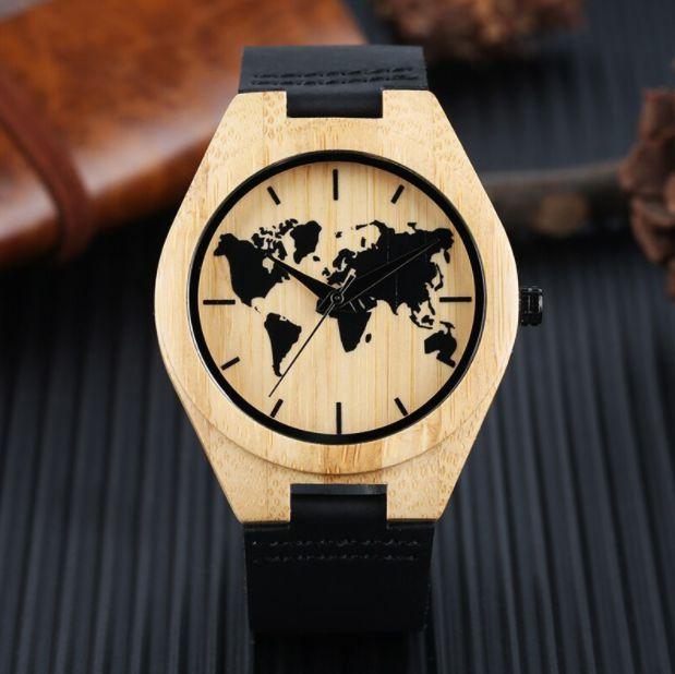 Relógio Feminino de Bambu Mundi